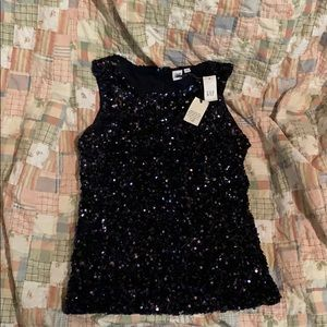 Navy Blue sequined GAP party tank!!